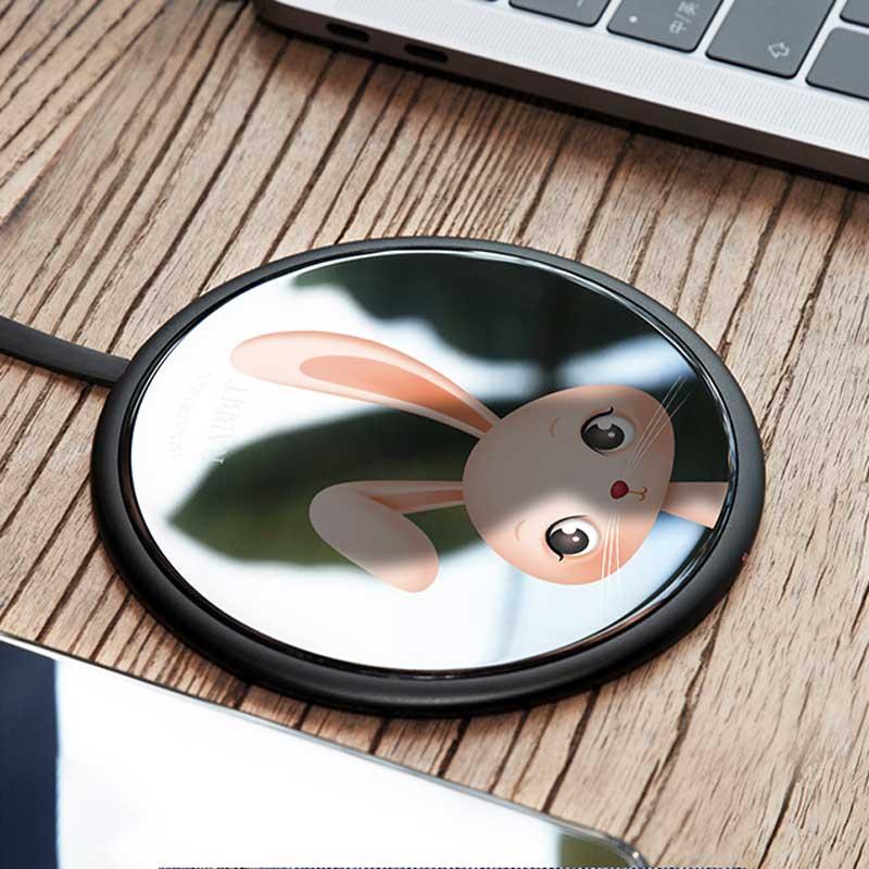 fb87697b757 Tempered Glass Wireless Charging Pad (Magic Array/Bunny/Koala/Black ...