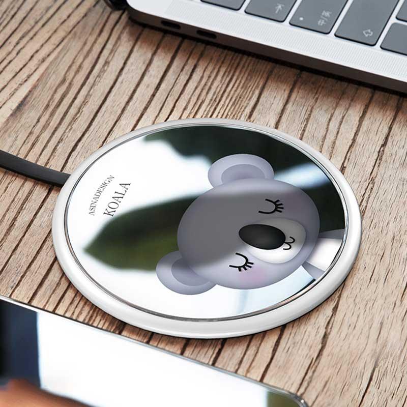 0b9fcb8575e Tempered Glass Wireless Charging Pad (Magic Array/Bunny/Koala/Black/White)  - RegisBox