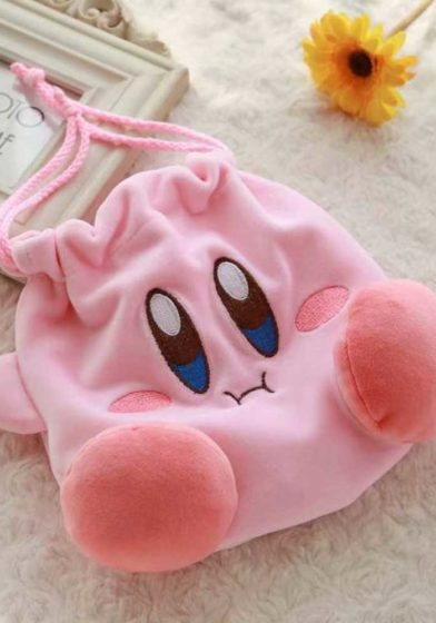 Regisbox Cute Kirby Drawstring Bag Kirby Cosmetic Bag (1)
